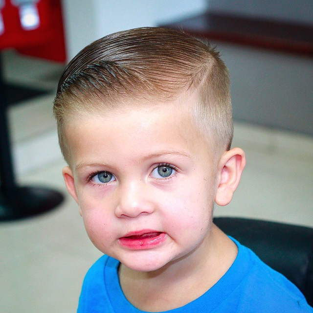 Comb Over + Side part - Hairstyle for boy