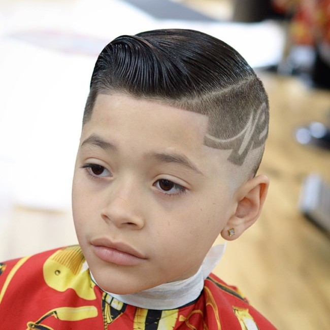 Comb over + Design Hairstyle for boys