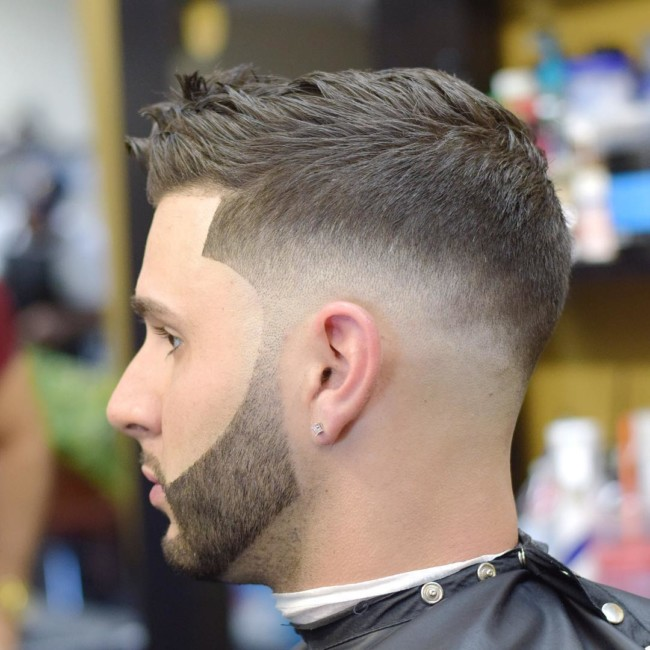 Quiff + Drop Skin Fade - Men's Haircuts