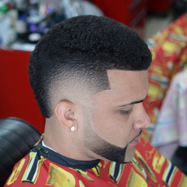 Black men haircuts - FroHawk + Disconnected beard
