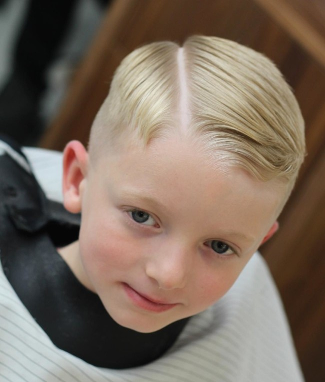 Side part Comb Over Hairstyle for boys