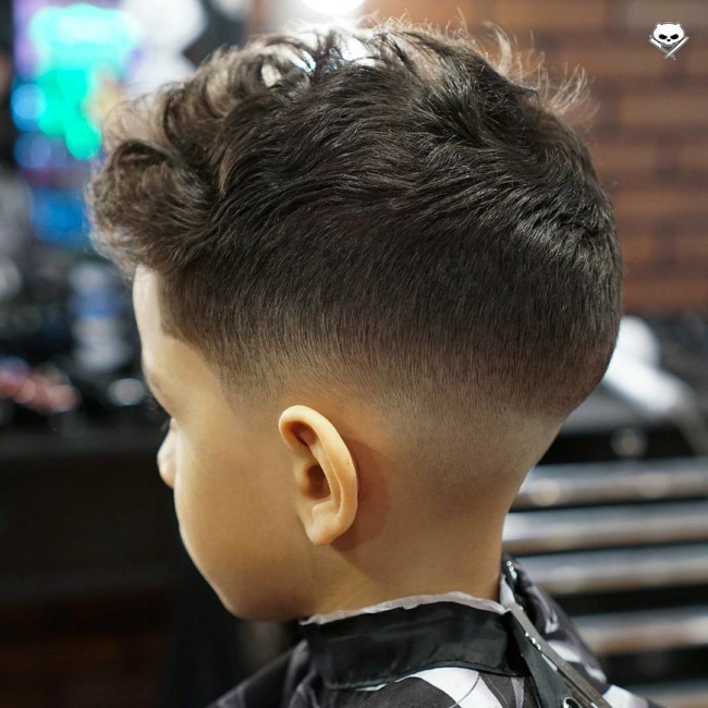 Messy haircut + Low fade - Hairstyle for boy