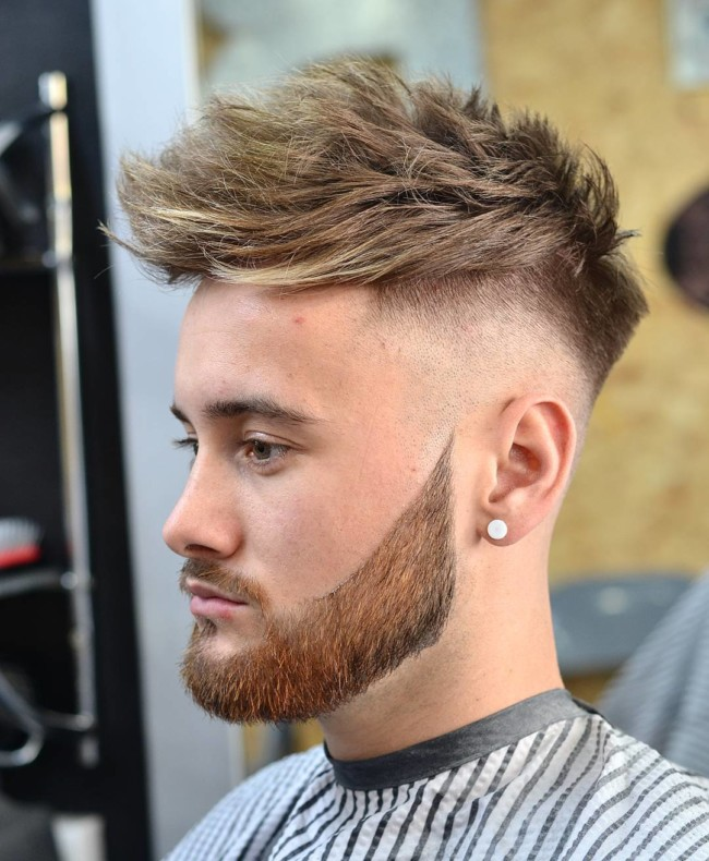 Quiff Undercut Fade + Disconnectd Beard - Men(s haircuts