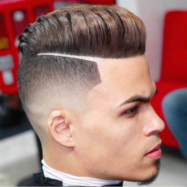 Hard Part with Fade - Men's Haircuts