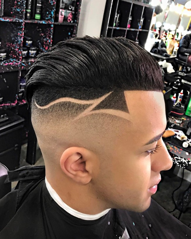 Fade with Designs - Men's Haircuts