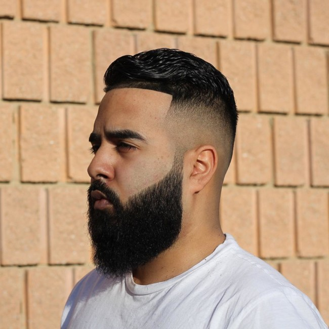 High Skin Fade + Full Beard Disconnected - Men's Haircuts