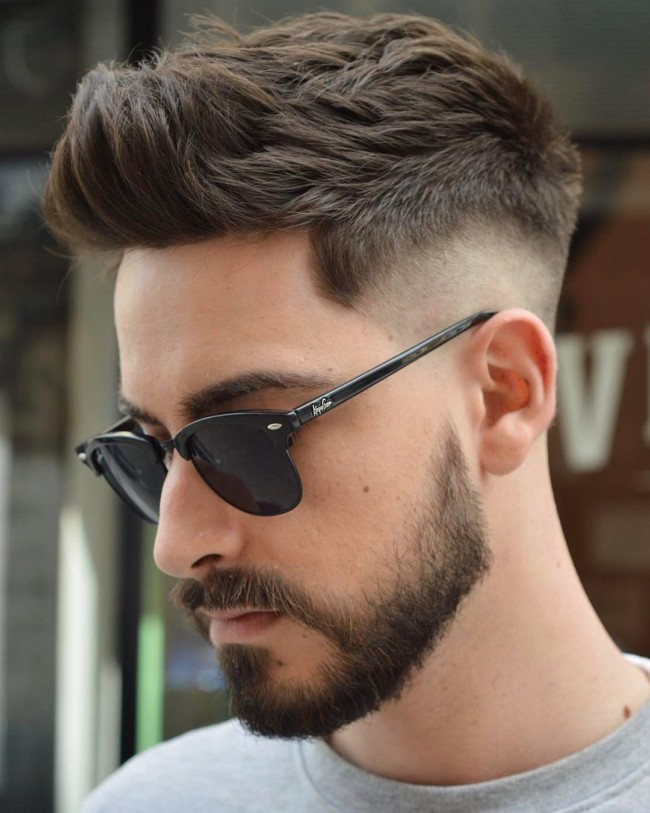 Quiff + Mid Fade + Disconnected Fade - Men's Haircuts