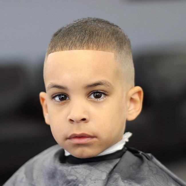 Buzz cut + High skin fade  Hairstyle for boys