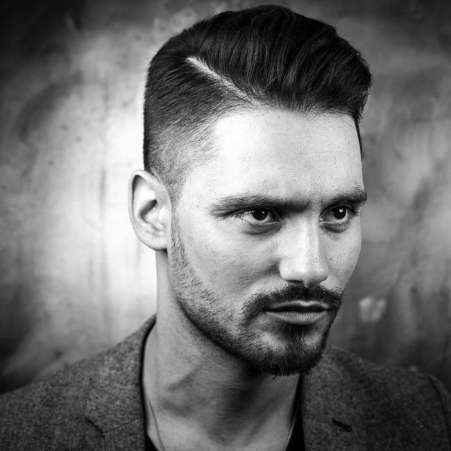 Side Part Comb Over + High Fade - Men's Haircuts