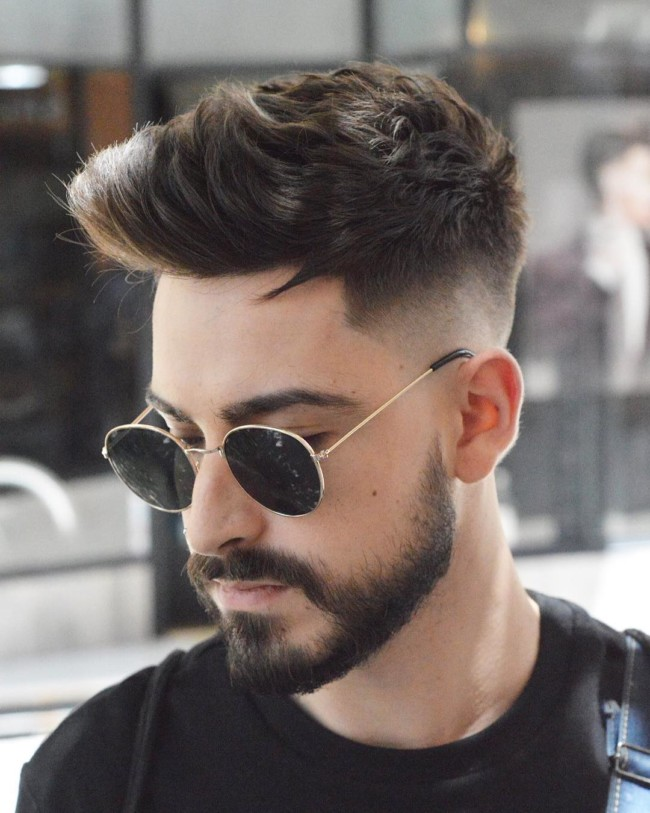 Quiff + Mid Fade - Men's Haircuts