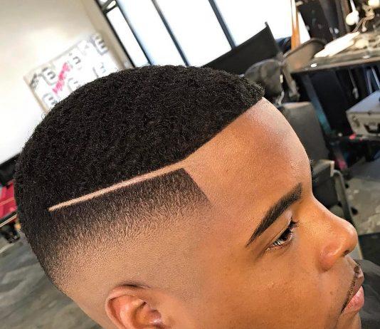 Fade haircut for black men