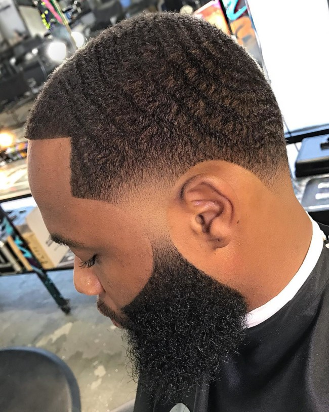 Waves + Taper Fade - Men's haircuts