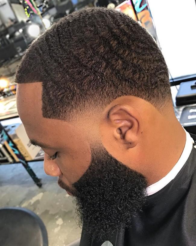 Waves + Taper Fade - Men's haircuts