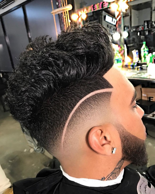 Messy FauxHawk + Hi-Lo Fade - Men's haircuts