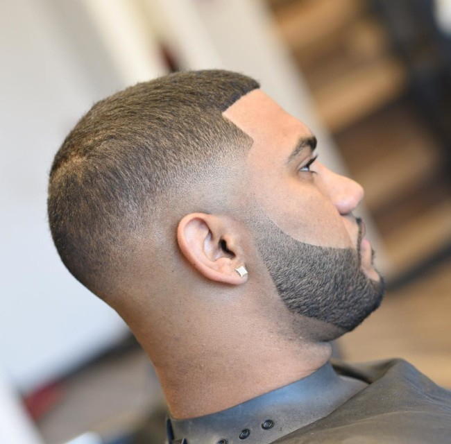 Buzz Cut + Mid Skin fade + Disconnected Beard - Men's Haircuts
