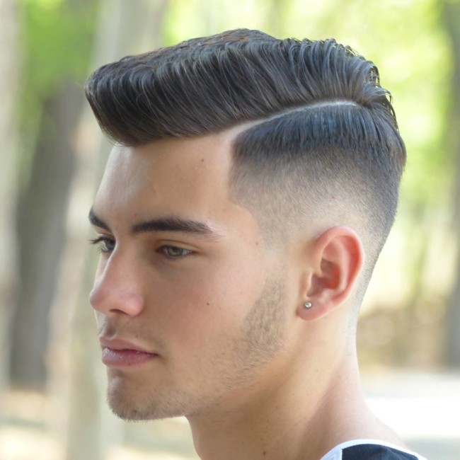 Side Part + High Fade - Men's Haircuts