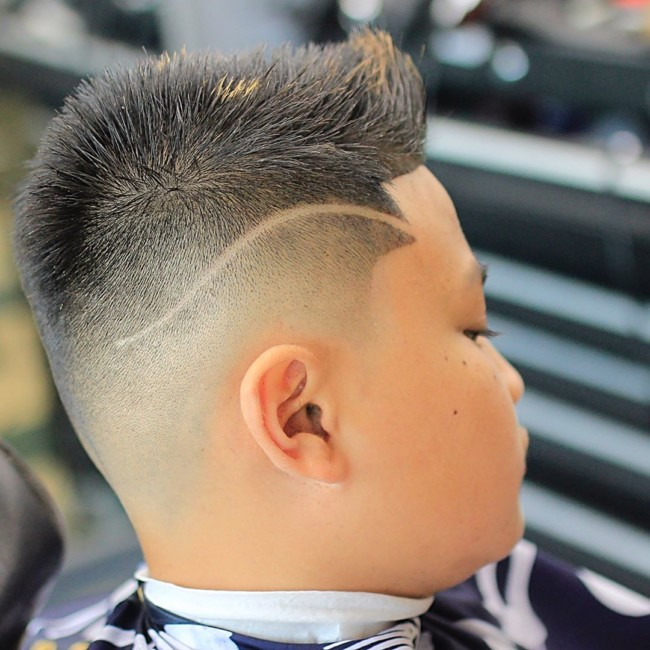 Spiky Quiff + Hi-lo Fade Hairstyle for boys