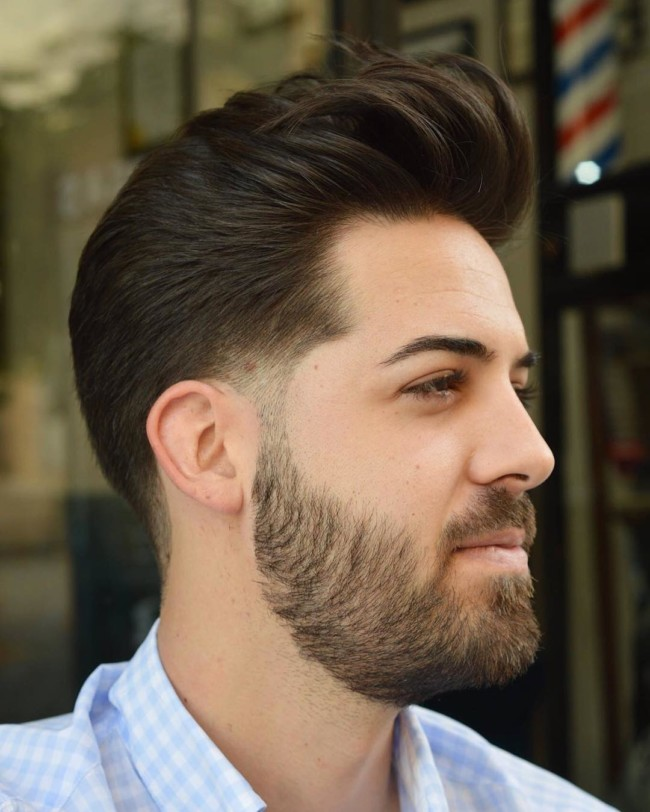 Brushed Back + Taper Fade - Men's Haircuts