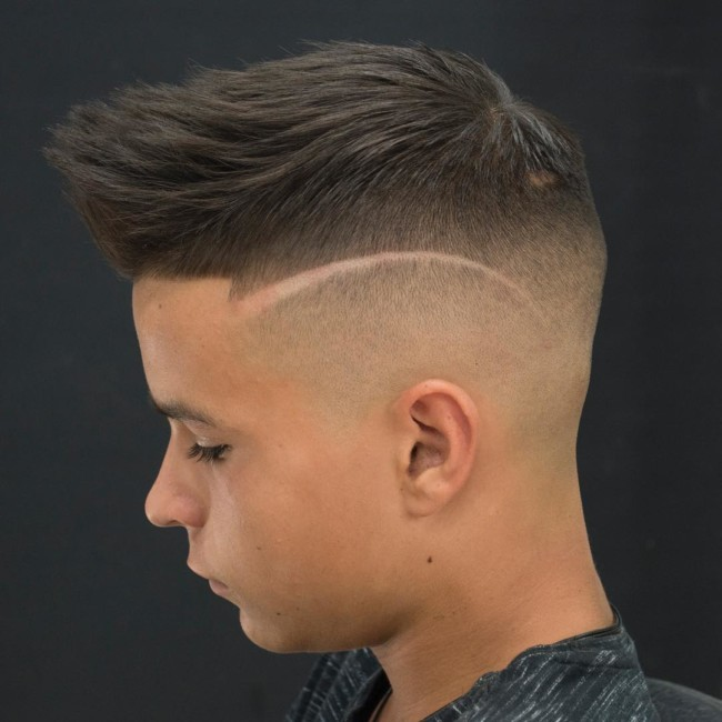 Quiff + Hi-lo Fade - Hairstyle for boy