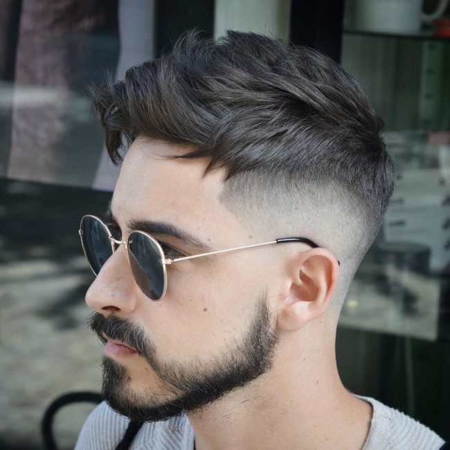 Textured Undercut + Disconnected Beard - Men's Haircuts