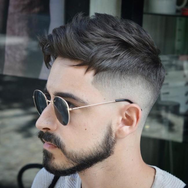 Textured Undercut + Disconnected Beard - Men's Haircuts