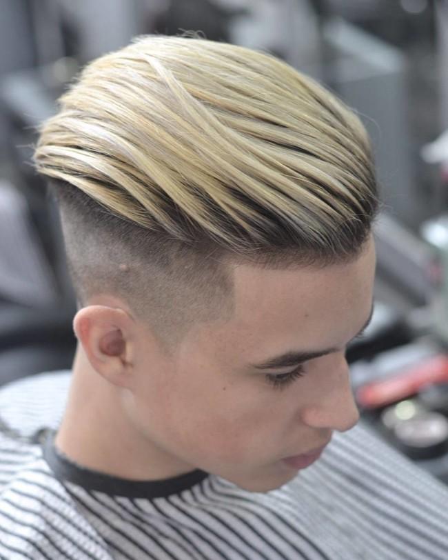 Undercut + Color + High Fade - Men's Haircuts