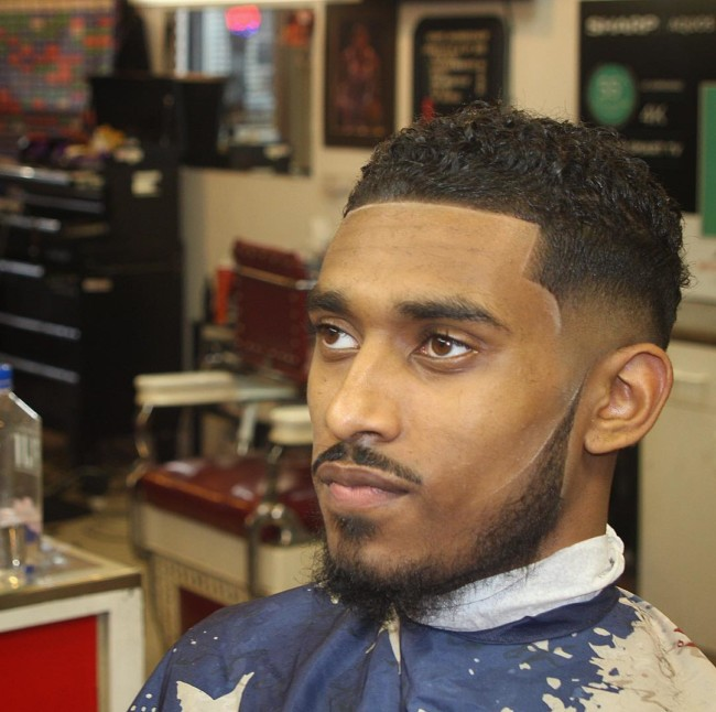Curls + Low Fade + Disconnected beard Black mens haircuts