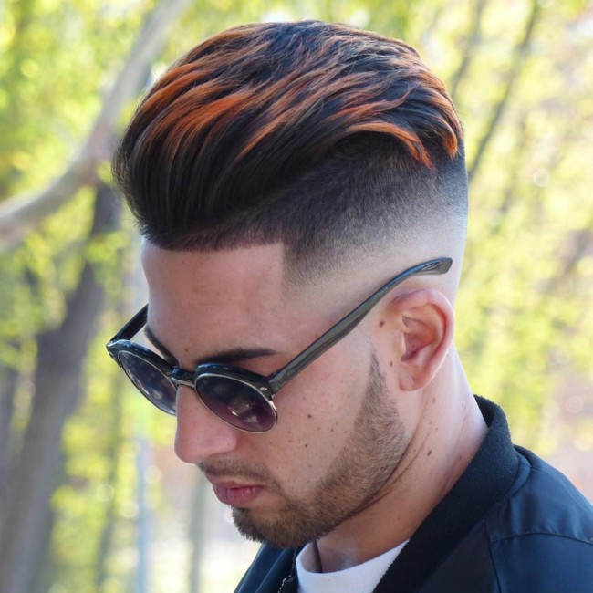 Pompadour + High Skin Fade - Men's Haircuts