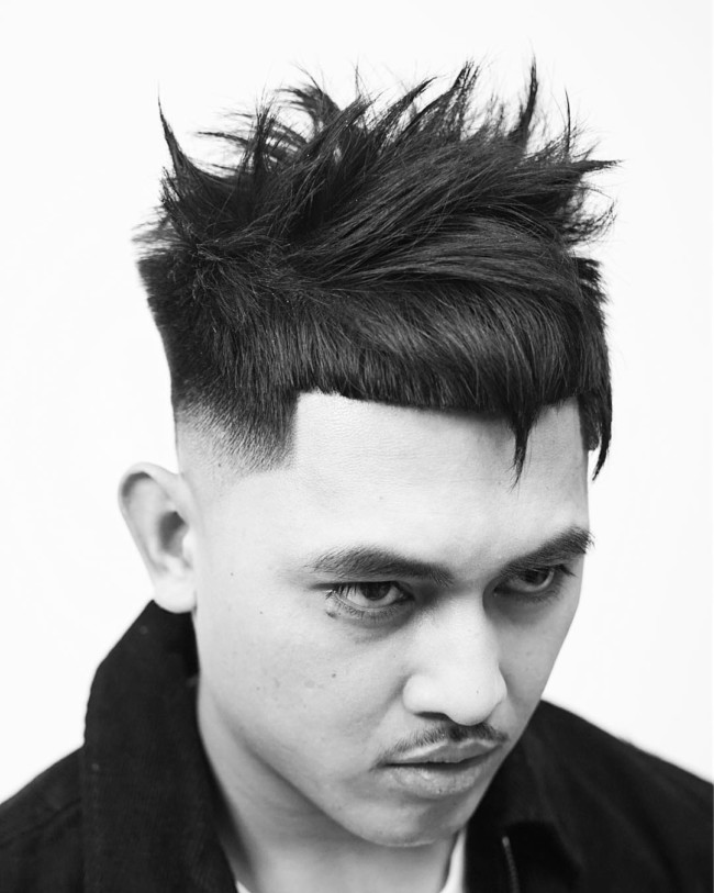 Horns + Mid Skin Fade - Men's Haircuts