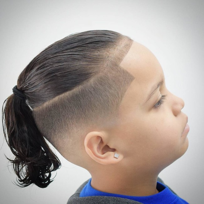 Top Knot Haircut for boys
