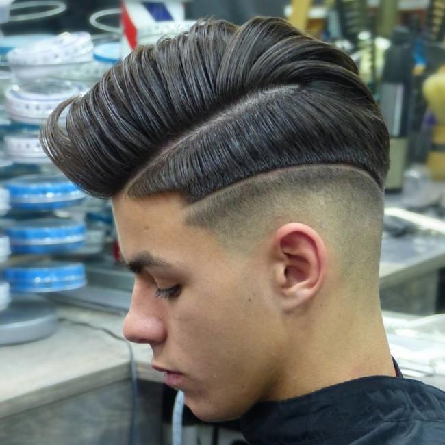 Side Part Comb Over + Hi-Lo Fade - Men's Haircuts