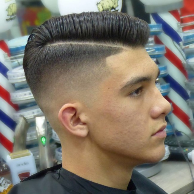 Side Part Comb Over + High Skin Fade - Men's Haircuts