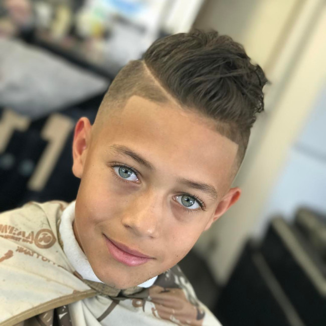 MoHawk + Hard part Hairstyle for boys