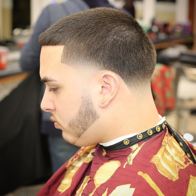Buzz Cut + Taper Fade + Disconnected Beard - Men's Haircuts