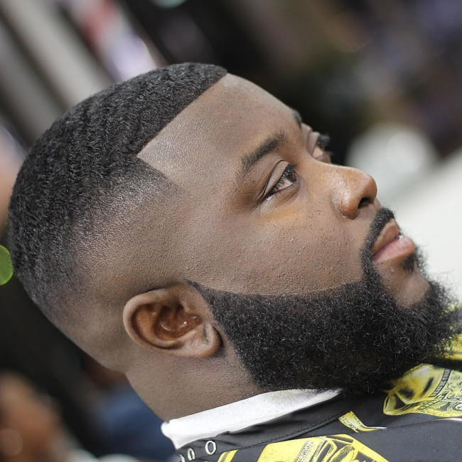 Skin Fade + beard Black men haircuts