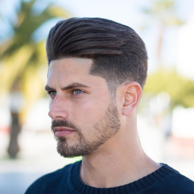 Pompadour + Mid Fade - Men's Haircuts