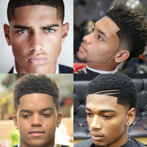 Line up black men haircuts