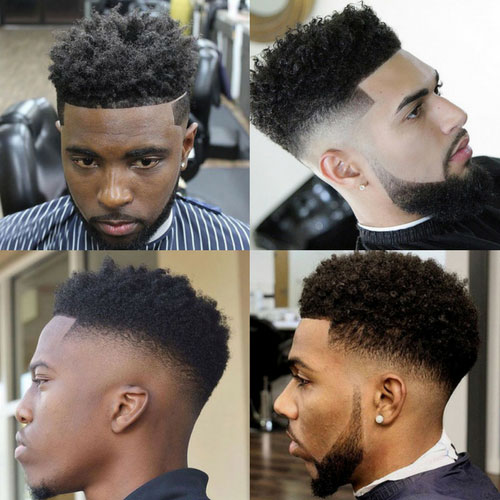 Curls with fade black men haircuts