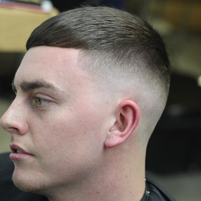 Caesar Haircut + Skin Fade - Men's Haircuts