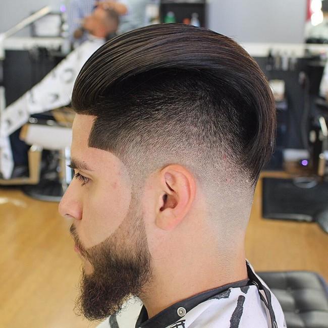Slicked Back Haircut - Men's haircuts