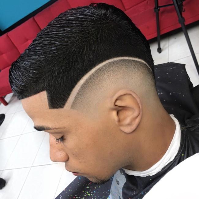 Brush Cut + Hi-Lo Fade - Men's Haircuts