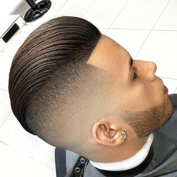 Slicked back Undercut - Men's haircuts
