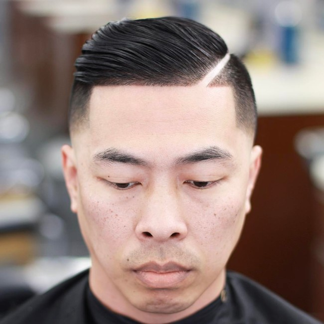 Comb Over + Thick part - Men's Haircuts