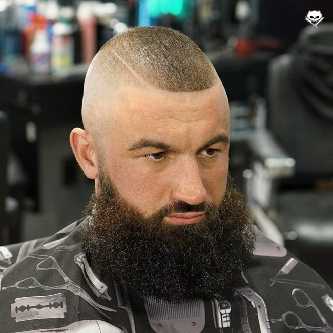 High and Tight Recon + Full Beard- Men's haircuts