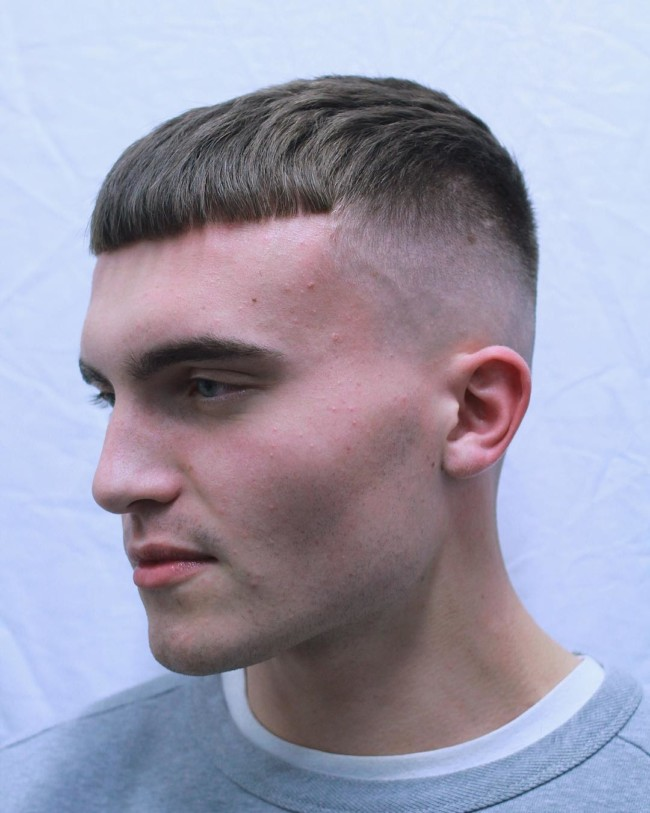 French Crop + High Skin Fade