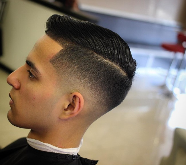 Side Part Bald Fade - Men's Haircuts