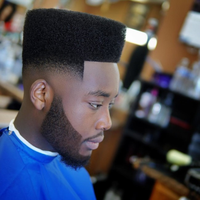 Flat Top + Mid Skin Fade - Men's haircuts