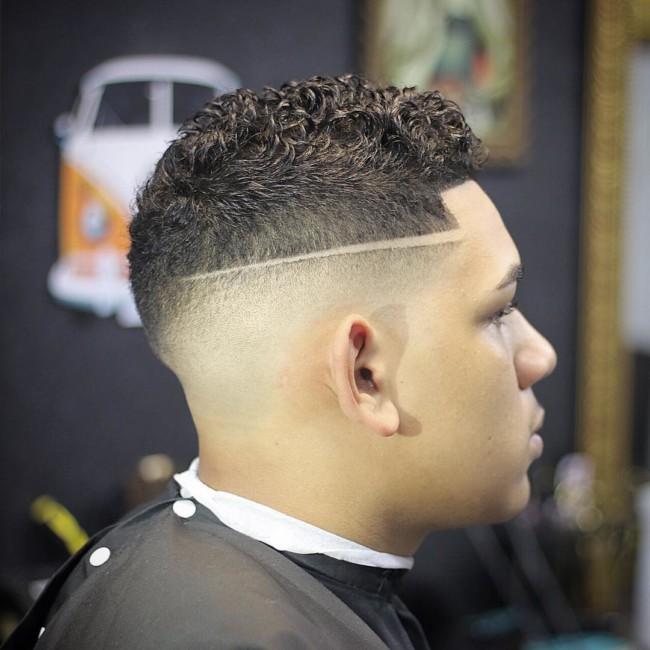 Short Curly Quiff + Long Hard Part - Men's haircuts