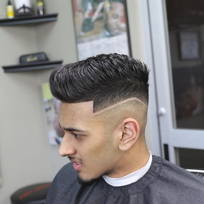 Quiff + Hi-Lo Fade - Men's haircuts