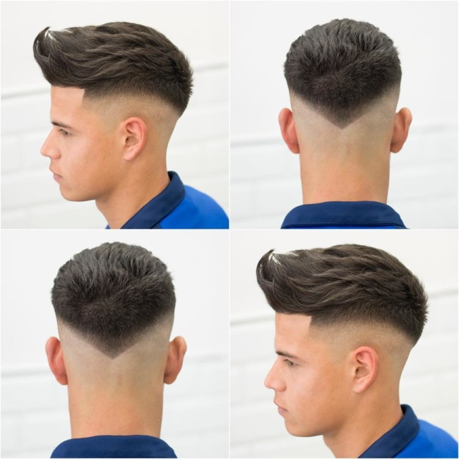 Quiff + V Bald Fade - Men's Haircuts